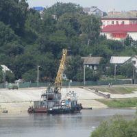 Строительство набережной, Мозырь