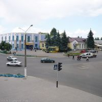 г. Рогачев вид на магазин Дружба и перекресток 2009 июнь, Рогачев