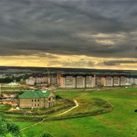Вид на Ольшимово с 9-го этажа КСОМовской общаги, Волковыск