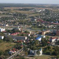 Вид с воздушного шара, Волковыск