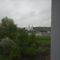 """Шведская гора и косцел св. Вацлава из окна гостиницы """"Березка"""" в Волковыске, Волковыск"""
