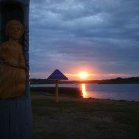 закат на озере, Вороново