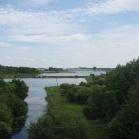 вид с железки на озеро, Вороново