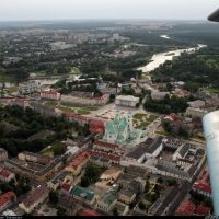 Sovetskaya square from An-2, Гродно