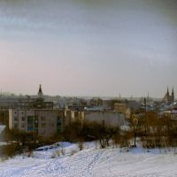 Вид на Зельву с Замковой горы, Зельва