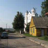 вул. Паштовая і Барысаглебская царква ♦ the Church of St. Barys and Hleb, Новогрудок