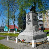 Памятник  Траугуту, установленный в 1928 году Польшей, Свислочь
