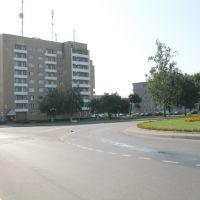 "traffic roundabout and the hotel ""Smorgon"" (""Smarhon""), Сморгонь"