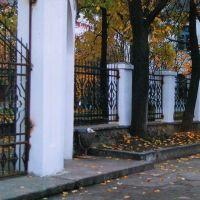 Ограждение костела. 1993г., Сморгонь