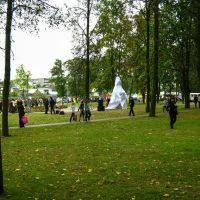Перад адкрыццём помніка. Дзень беларускага пісьменства (Before the opening of the monument. Day of Belarusian Written Language), Сморгонь