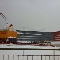 Подготовка к надвижке мостовых конструкций, Березино