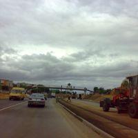 Building autostrada М-4 across city Berazino 28/08/2012, Березино