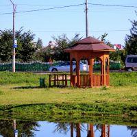 альтанка побач з возерам, Воложин