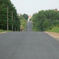 Въезд  в Копыль с востока, Копыль