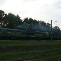 Passing train / Marina Gorka / Belarus, Марьина Горка