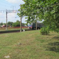 approaching train, Марьина Горка