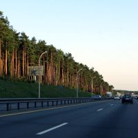 Minsk beltway in the evening, Пинск