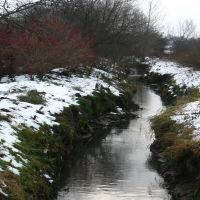 Ручей вдоль железной дороги. Creek along the railway., Молодечно