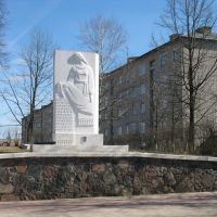 Помнік 168 загінуўшым партызанам., Мядель