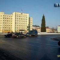 Ёлка на цетральной площади., Слуцк