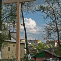 The cross near the church in Smaliavičy, Смолевичи
