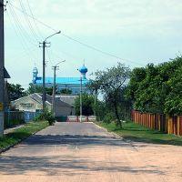 Выгляд на царкву Сьвятой Ганны зь вуліцы Міцкевіча, Столбцы