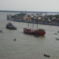 El Zamná zarpa del puerto de Alvarado, Ver., Альварадо
