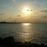 Bello atardecer sobre la costa de Coatzcoalcos, Коатцакоалькос