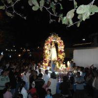 """Procesión de """"Ntra. Señora de Cosamaloapan"""", a la altura de """"La Piedra"""", sitio en el que según la tradición llegó flotando en el Papaloapan en 1546, Косамалоапан (де Карпио)"""