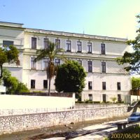 Vista posterior (desde el Paseo del Rio) del Palacio Municipal de Orizaba, Оризаба