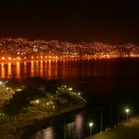 Acapulco skyline by night, Акапулько