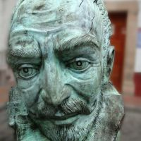 Juan Ruiz de Alarcón estatua, Taxco Guerrero, México, Такско-де-Аларкон