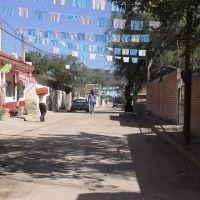 calle principal   atenango del rio, Текпан-де-Галина
