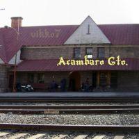 Acambaro Gto. estacion de tren de frente, Акамбаро
