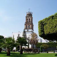 Iglesia y carreta, Акамбаро