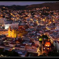 Panoramica de Guanajuato, Gto. - Guanajuato city panoramic view, Валле-де-Сантъяго
