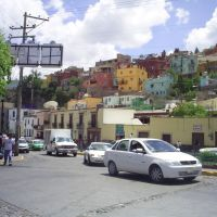 Coloridas casas en Guanajuato, Валле-де-Сантъяго