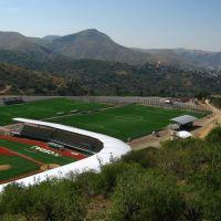 Sports grounds with baseball & soccer fields near La Valenciana mine, Guanajuato, Гуанахуато