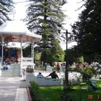 Jardín Principal con vista al Kiosko, Pénjamo, Gto., Mex., Пенхамо