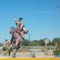 Escultura Metalica del vaquero de Sabinas, Салтилло