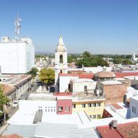 Panorámica del Centro de Colima. Templo El Beaterio y Edificio Telmex, Колима