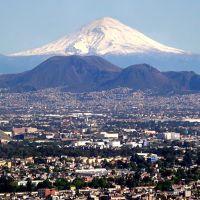 Volcán Popocatepetl desde Latino, Текскоко (де Мора)