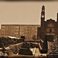 México, D.F., Delegación Cuauhtémoc, Tlatelolco, Plaza de Las Tres Culturas., Хилотепек-де-Абасоло