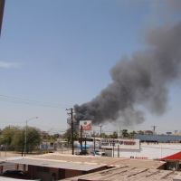 Incendio visto desde Iglesia El Shadai, Мехикали