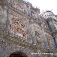 DETALLES DE FACHADA, CATEDRAL, OAXACA, Хуахуапан-де-Леон