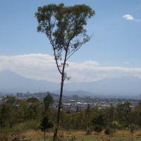 Vista de la ciudad de Puebla desde los fuertes, Ицукар-де-Матаморос