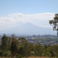 Vista del Popocatepetl desde los fuertes, Техуакан