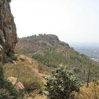 View over the hills at cerro de la bufa, Закатекас