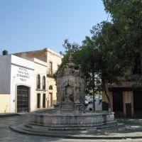 A fountain at a street corner, Закатекас