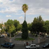 View of the park in front of the hospital IMSS, Сомбререт